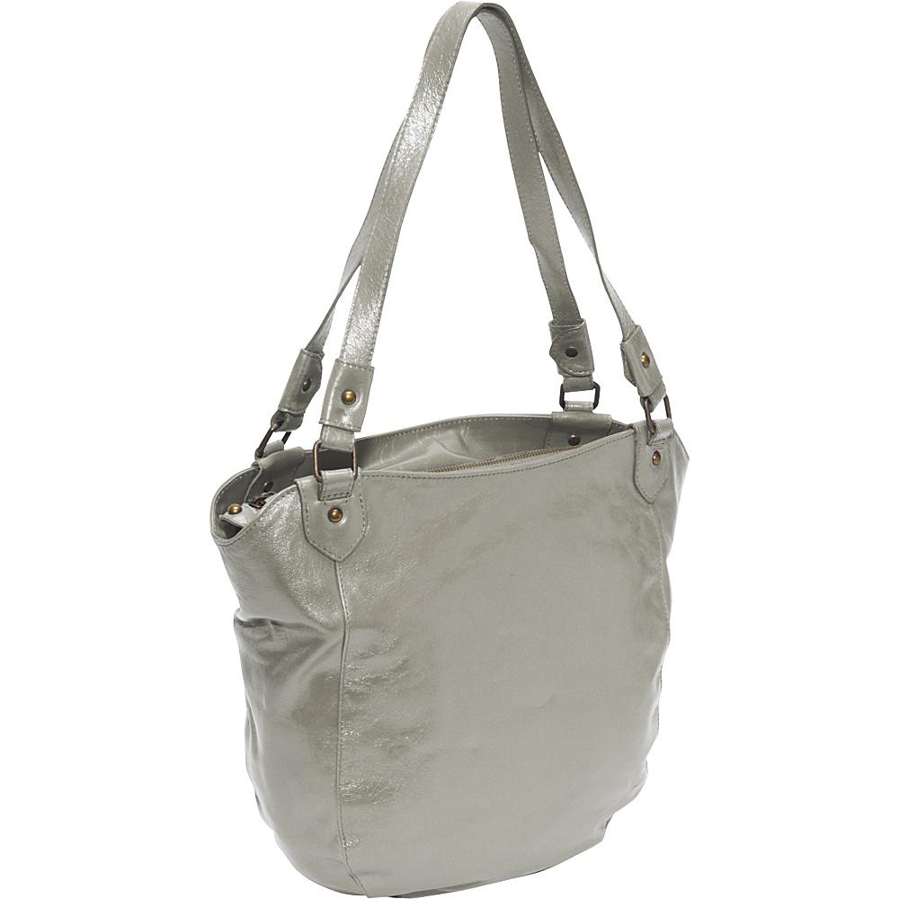 Latico Leathers Waverly Metallic Gray Latico Leathers Leather Handbags