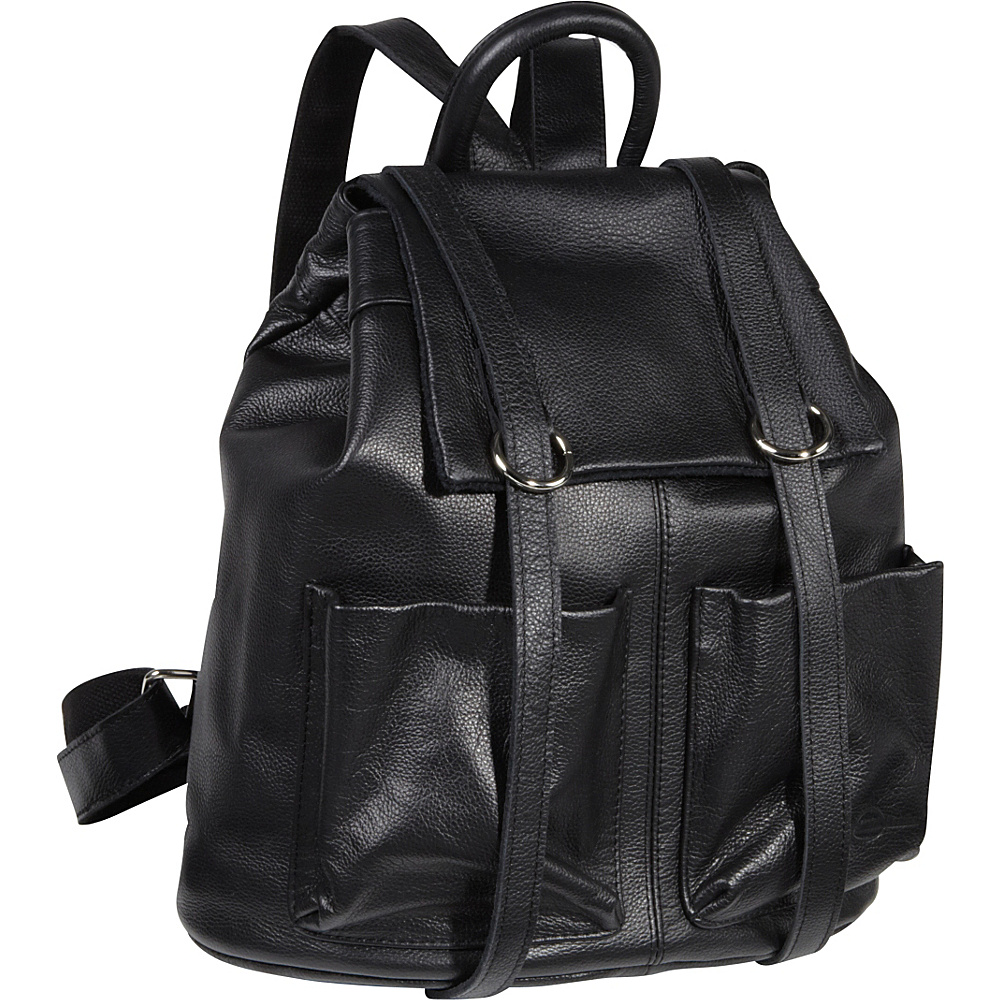AmeriLeather Chief Backpack - Black - Handbags, Leather Handbags