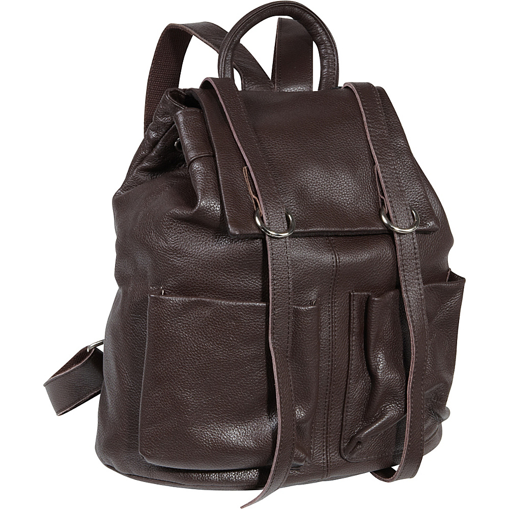 AmeriLeather Chief Backpack Dark Brown - AmeriLeather Leather Handbags