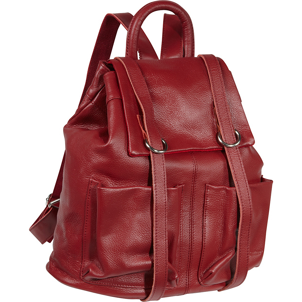 AmeriLeather Chief Backpack - Red - Handbags, Leather Handbags