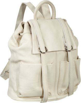 AmeriLeather Chief Backpack Off White - AmeriLeather Leather Handbags