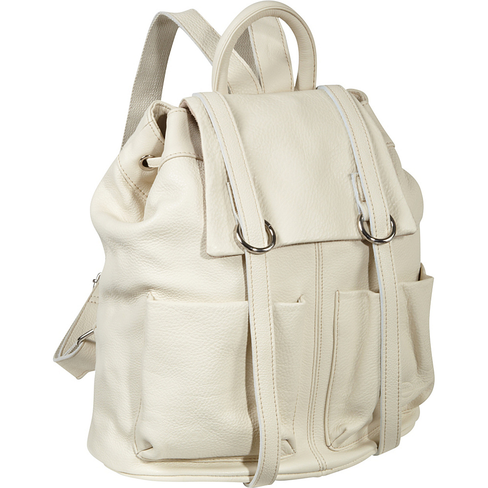AmeriLeather Chief Backpack Off White - AmeriLeather Leather Handbags - Handbags, Leather Handbags