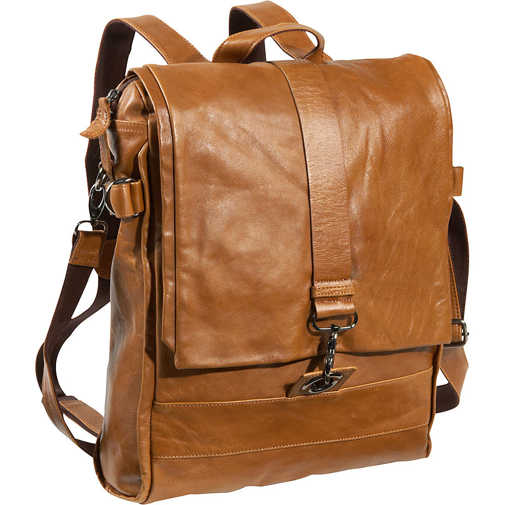 AmeriLeather Vintage Messenger Bag / Backpack Vintage Tan - AmeriLeather Messenger Bags - Work Bags & Briefcases, Messenger Bags