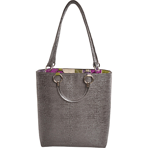 Baxter Designs Large Boa Tote Silver