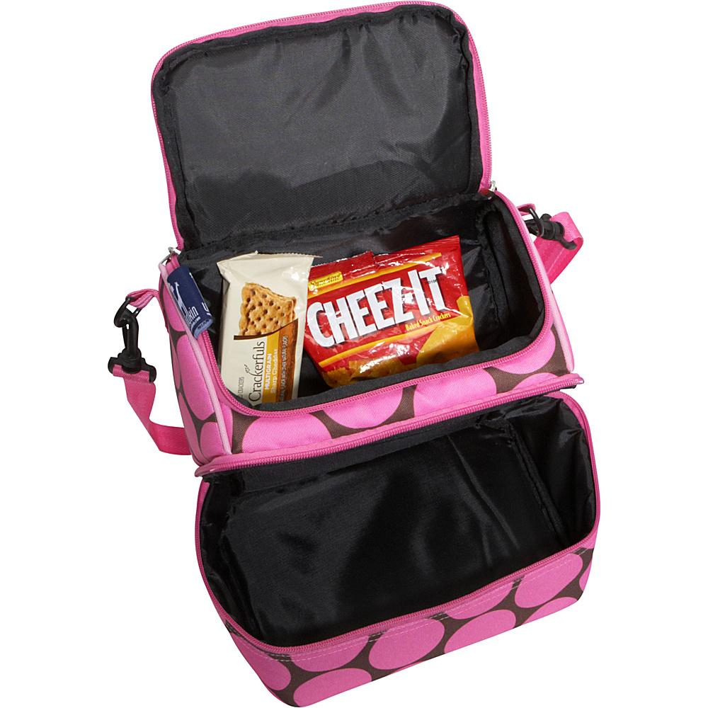 Wildkin Big Dots Pink Double Decker Lunch Bag Big Dots Hot Pink - Wildkin Travel Coolers
