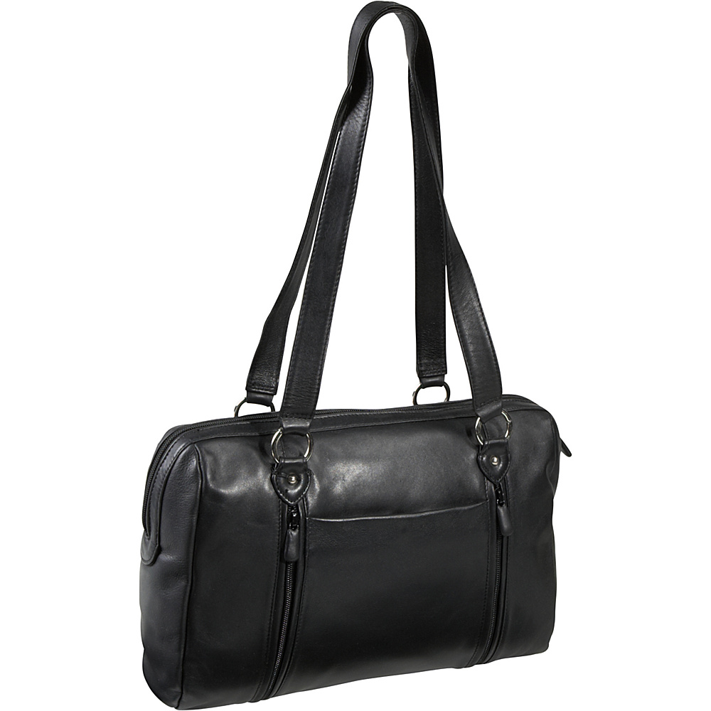 Derek Alexander EW Top Zip Tote - Black - Handbags, Leather Handbags