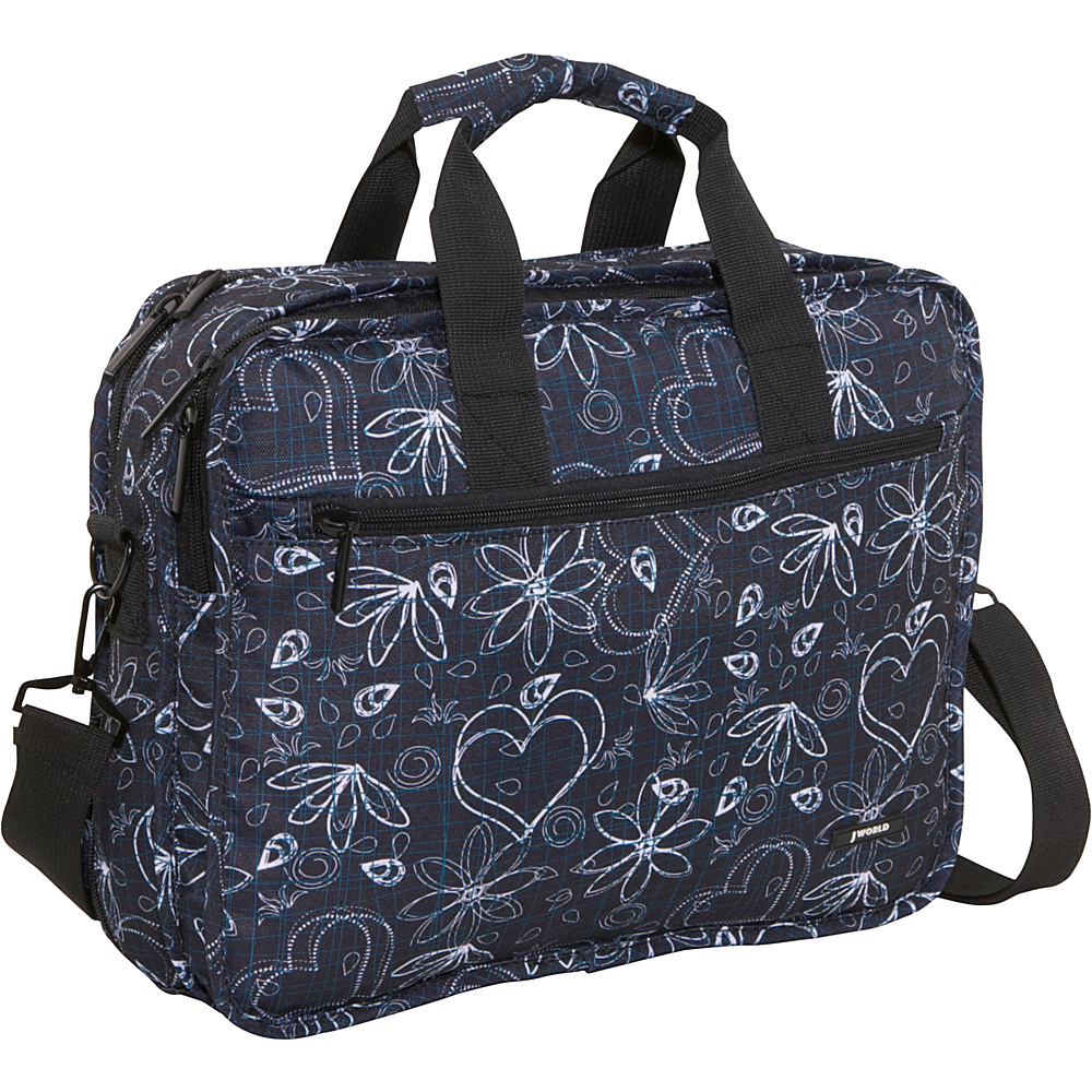 J World Executive Laptop Bag - Love Black - Work Bags & Briefcases, Non-Wheeled Business Cases
