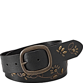Floral Stud and Vine Belt Black - Medium