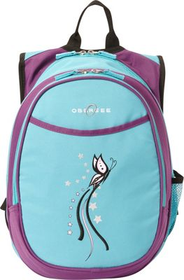 Obersee Kids Pre-School Butterfly Backpack with Lunch Cooler - 14.5 inch Turquoise Butterfly - Obersee Everyday Backpacks