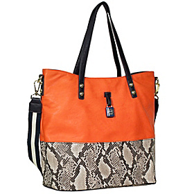 Getaway Tote Orange Peel / Black / White