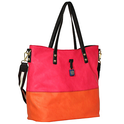 Jessica Simpson Getaway Tote Flamingo / Orange Peel - Jessica Simpson Manmade Handbags