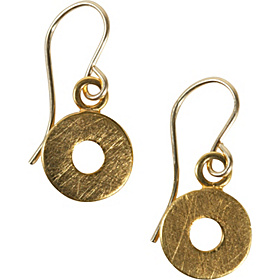 Circle Earring 23kt Gold Vermeil
