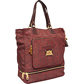 Weekend Warriors Nylon All Day All Night Tote Red Snake