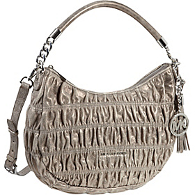 Webster Medium Convertible Metallic Shoulder Bag Nickel