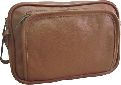 Amerileather Leather Travel Toiletry Bag - Brown