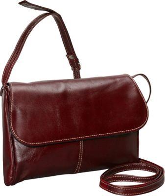 David King & Co. Florentine Flap Front Handbag Cherry - David King & Co. Leather Handbags