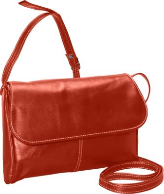 David King & Co. David King & Co. Florentine Flap Front Handbag Honey - David King & Co. Leather Handbags