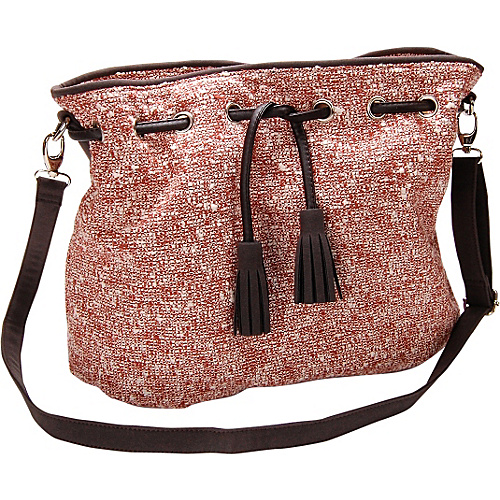 Flying Daisies Starfish Novelty Fabric Crossbody Handbag Starfish Brown