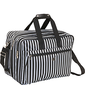 Stripe Convertible Carry On Black/Steel Blue