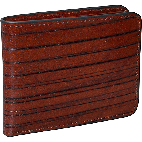 Jack Georges Monserrate Collection Bi-fold Wallet Cognac - Jack Georges Mens Wallets