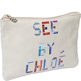 See By Tape Zipped Pouch Off White