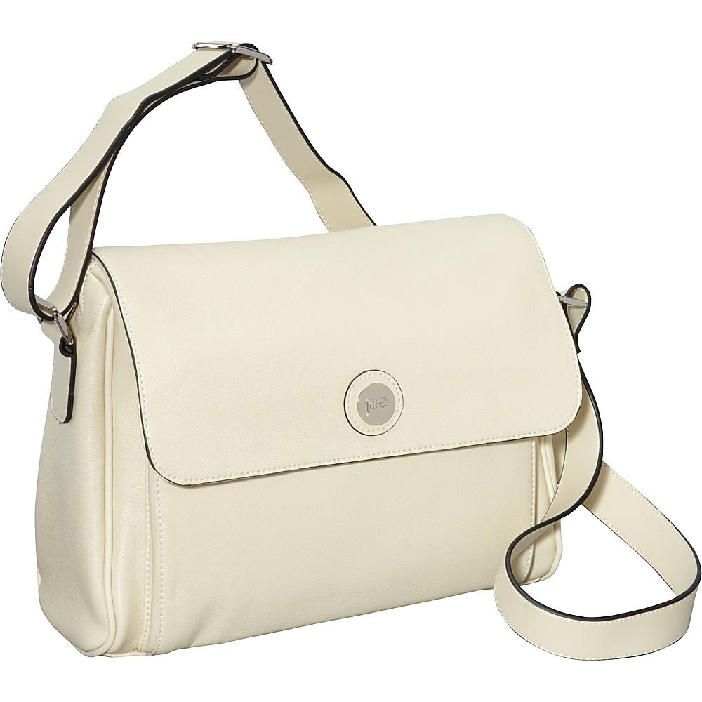 Jill e Designs E GO Leather Tablet Messenger Vanilla Jill e Designs Messenger Bags
