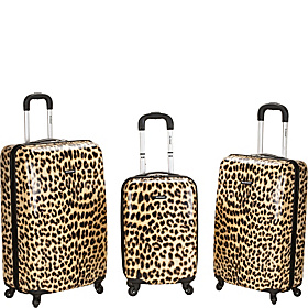 Leopard 3 Piece Hardside Spinner Set Leopard