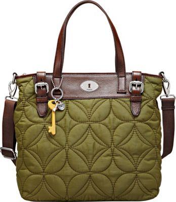 Fossil Key Per Nylon Shopper Avocado Fossil Fabric Handbags