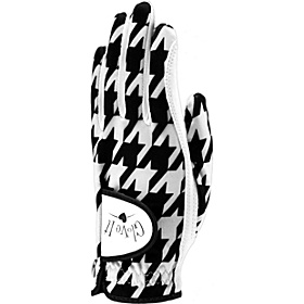B/W Houndstooth Glove Black Left Hand Large