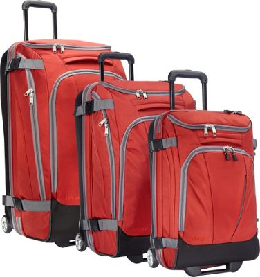 eBags Value Set: TLS 29 inch + TLS Junior 25 inch + TLS Mini 21 inch Wheeled Duffels Sinful Red - eBags Luggage Sets