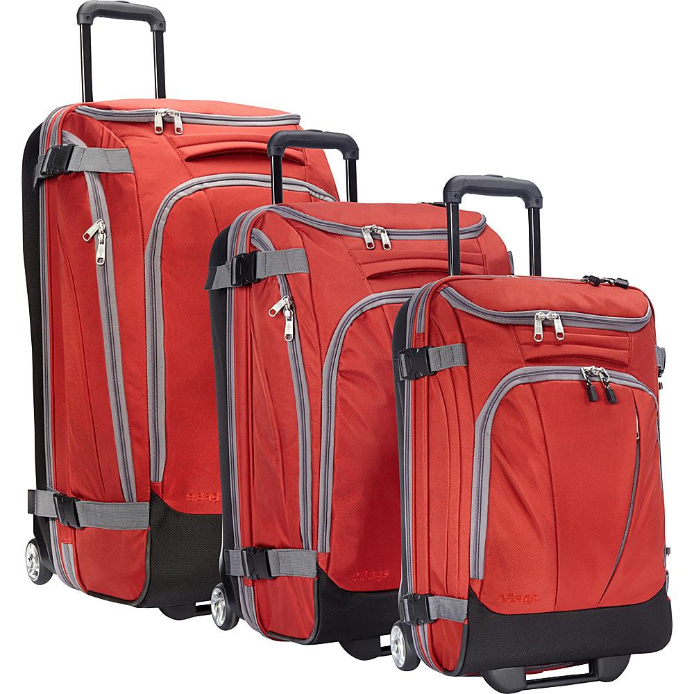 eBags Value Set: TLS 29 + TLS Junior 25 + TLS Mini 21 Wheeled Duffels Sinful Red - eBags Luggage Sets - Luggage, Luggage Sets