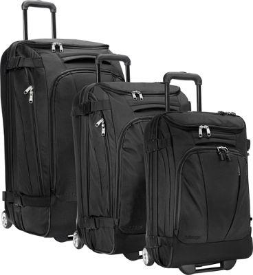 eBags Value Set: TLS 29 inch + TLS Junior 25 inch + TLS Mini 21 inch Wheeled Duffels Solid Black - eBags Luggage Sets