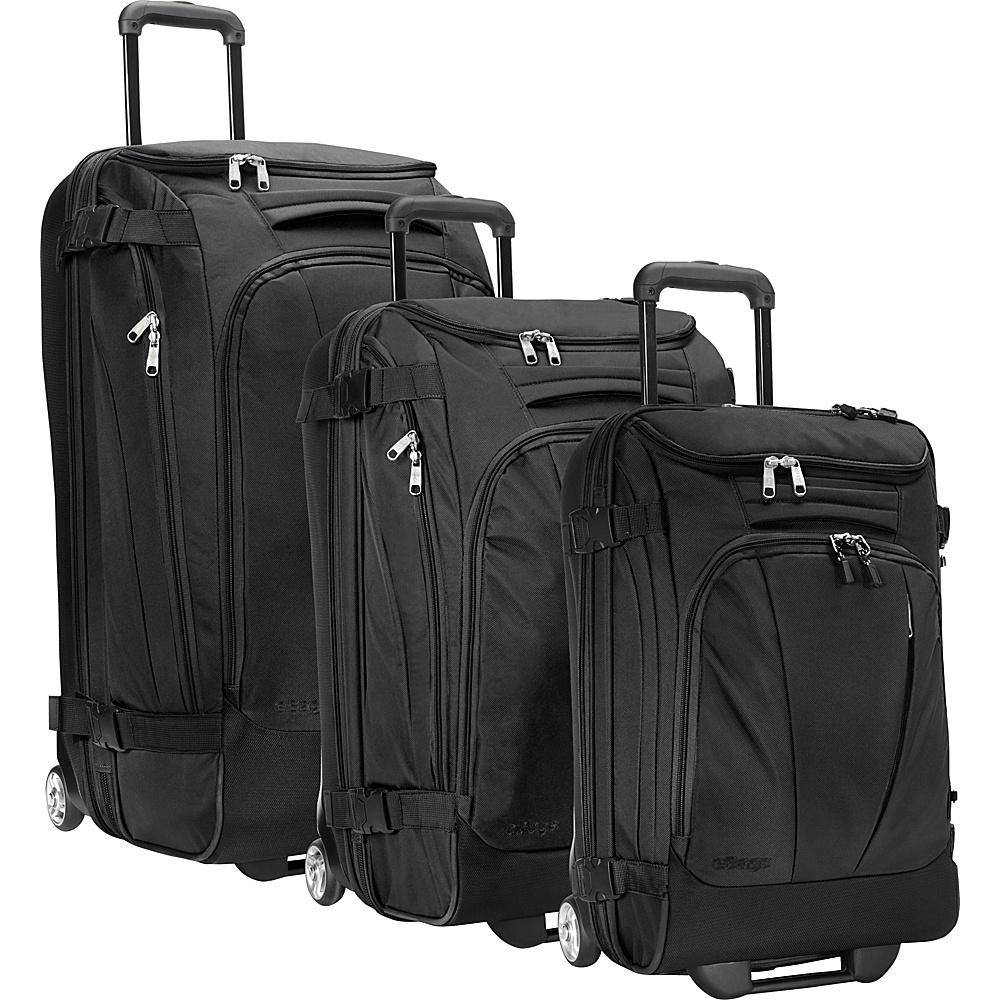 eBags Value Set: TLS 29 + TLS Junior 25 + TLS Mini 21 Wheeled Duffels Solid Black - eBags Luggage Sets - Luggage, Luggage Sets