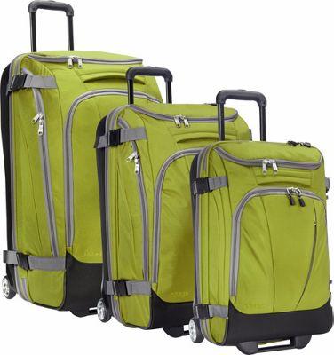 eBags Value Set: TLS 29 inch + TLS Junior 25 inch + TLS Mini 21 inch Wheeled Duffels Green Envy - eBags Luggage Sets