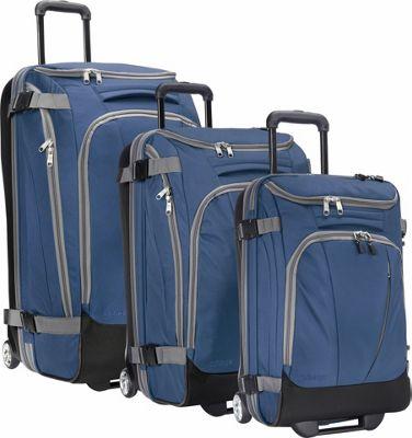 eBags Value Set: TLS 29 inch + TLS Junior 25 inch + TLS Mini 21 inch Wheeled Duffels Blue Yonder - eBags Luggage Sets