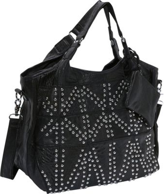 AmeriLeather Spirit Tote Black - AmeriLeather Leather Handbags