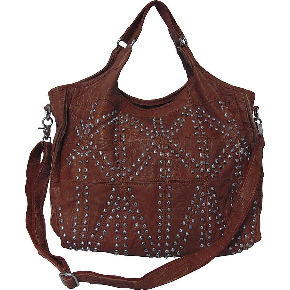 AmeriLeather Spirit Tote Brown - AmeriLeather Leather Handbags - Handbags, Leather Handbags