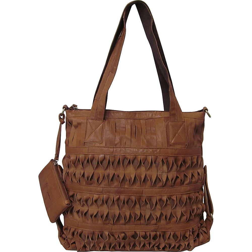 AmeriLeather Oida Tote Saddle Brown - AmeriLeather Leather Handbags - Handbags, Leather Handbags