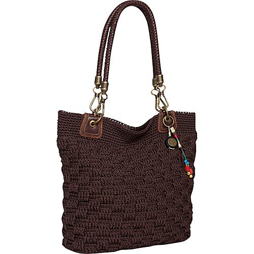 6cc819d81 The Sak Bennett Crochet Tote Brown - The Sak Fabric Handbags (10207298  105825-200
