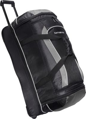 Samsonite Andante 28 inch Drop Bottom Wheeled Duffel Black/Grey - Samsonite Travel Duffels