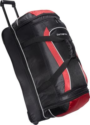 Samsonite Andante 28 inch Drop Bottom Wheeled Duffel Black/Red - Samsonite Travel Duffels