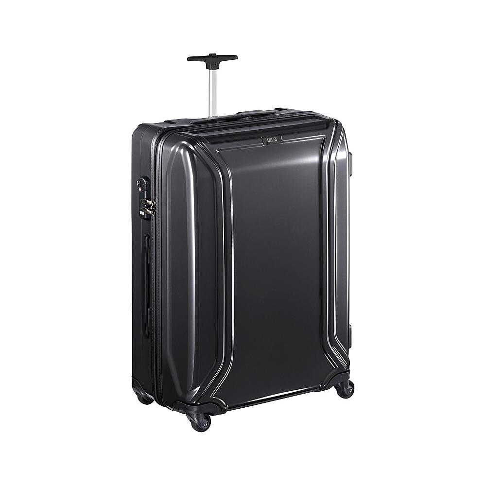 """Zero Halliburton Zero Air 23"""" Suitcase Black - Zero Halliburton Hardside Checked"""