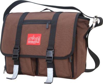 Manhattan Portage Trotter Messenger Bag Jr. Dark Brown - Manhattan Portage Messenger Bags