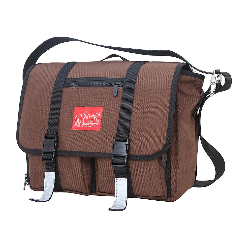 Manhattan Portage Trotter Messenger Bag Jr. Dark Brown - Manhattan Portage Messenger Bags - Work Bags & Briefcases, Messenger Bags