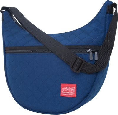 Manhattan Portage Quilted Nolita Shoulder Bag Navy - Manhattan Portage Fabric Handbags