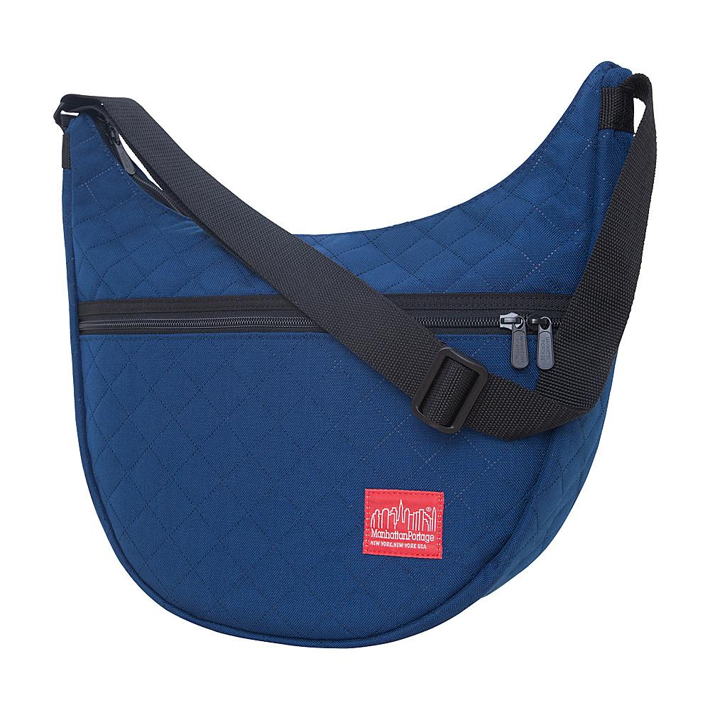 Manhattan Portage Quilted Nolita Shoulder Bag Navy - Manhattan Portage Fabric Handbags - Handbags, Fabric Handbags