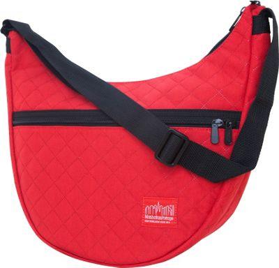 Manhattan Portage Quilted Nolita Shoulder Bag Red - Manhattan Portage Fabric Handbags