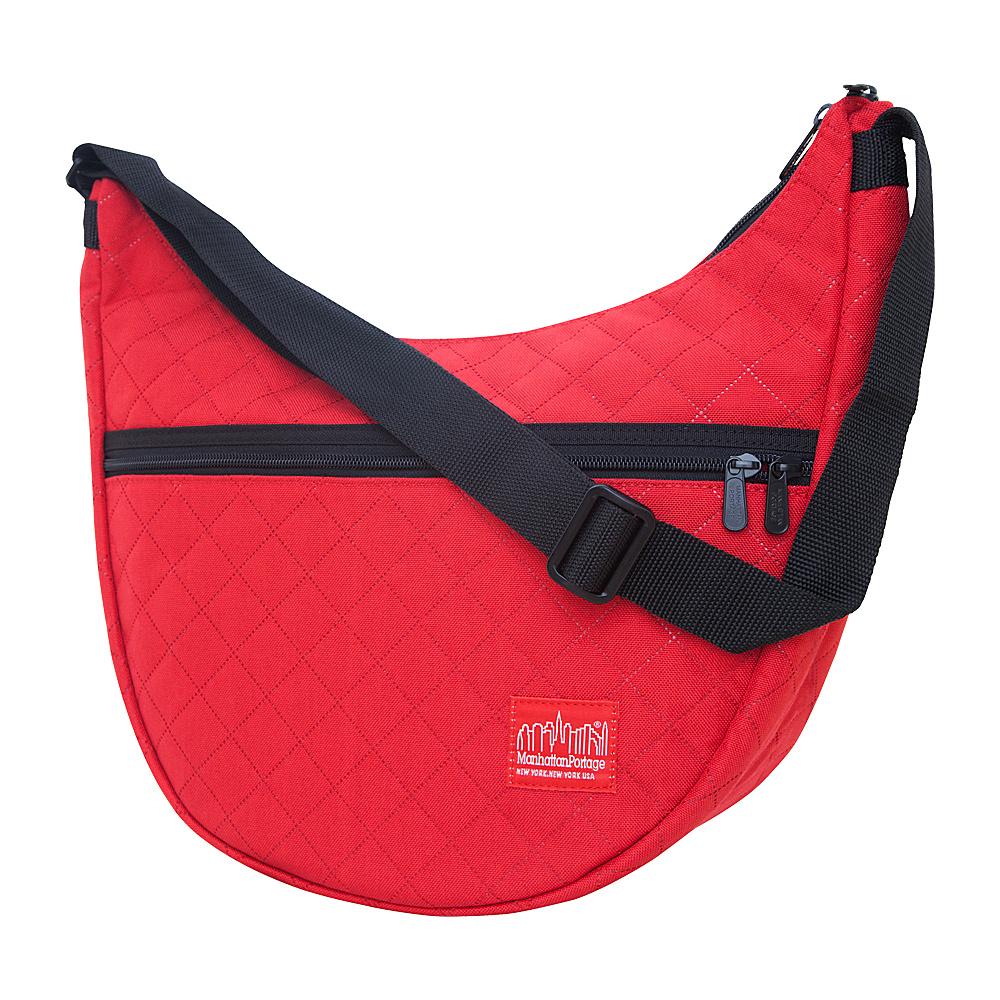 Manhattan Portage Quilted Nolita Shoulder Bag Red - Manhattan Portage Fabric Handbags - Handbags, Fabric Handbags