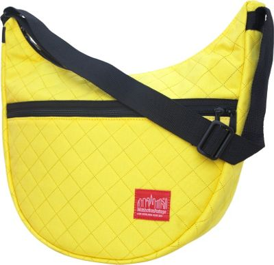 Manhattan Portage Quilted Nolita Shoulder Bag Yellow - Manhattan Portage Fabric Handbags