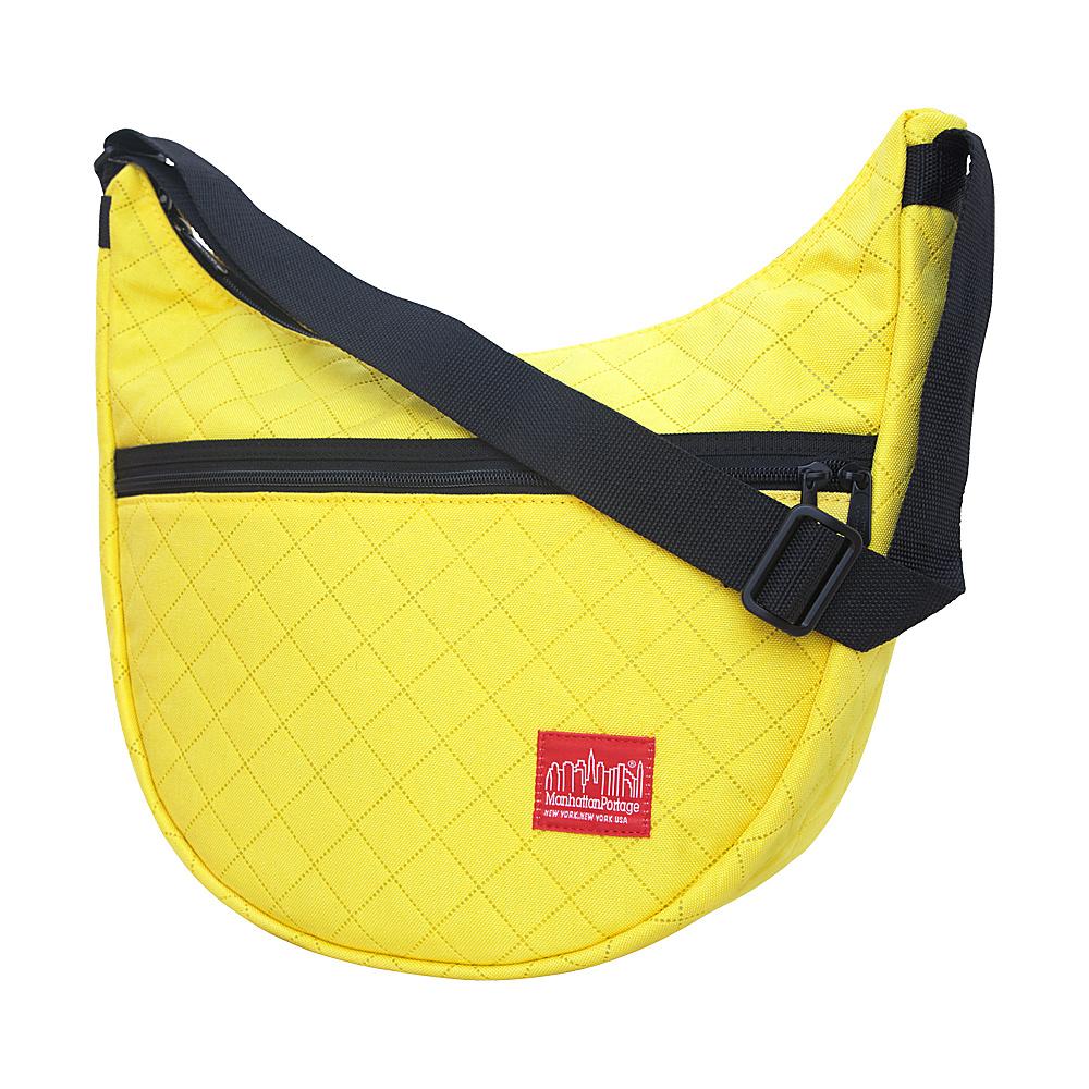 Manhattan Portage Quilted Nolita Shoulder Bag Yellow - Manhattan Portage Fabric Handbags - Handbags, Fabric Handbags